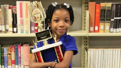 Girl born without hands wins national handwriting competition