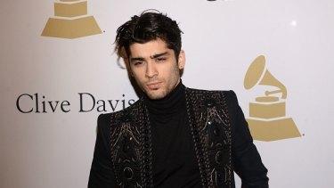 Former One Direction star Zayn Malik.