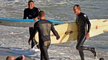 Surfers have urged fishermen to watch where they cast.