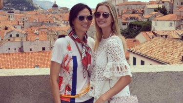 Wendi Murdoch and Ivanka Trump on holiday in Croatia.