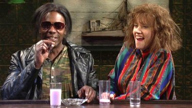 Dave Chappelle with Kate McKinnon on SNL.