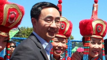Nationals MP Jian Yang at Chinese and Korean New Year festivities in the Auckland suburb of Northcote.