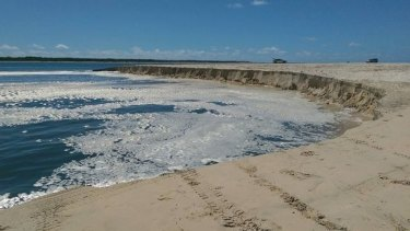 QPWS officers who investigated the site said it appeared to have been a small shifting of the sand.