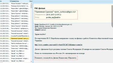 Hacked emails that purport to discuss the destabilisation of the Kharkiv region of Ukraine.