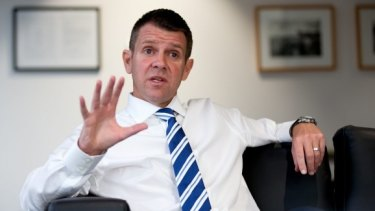 Weighing into the debate: NSW Premier Mike Baird.