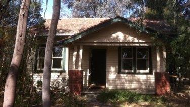 The home pre-demolition.
