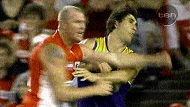 That punch: Barry Hall's infamous punch on Brent Staker in 2008.