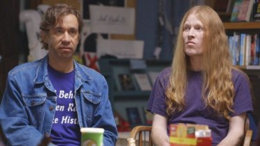 A fictional 'all-male feminist support group' in Portlandia