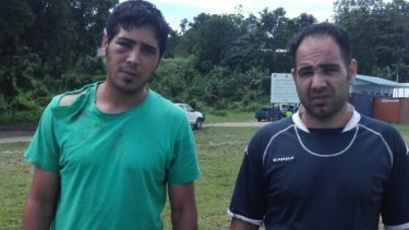 Iranian refugees Mehdi and Mohammad claim they were bashed by police and immigration officials on Manus Island on New Year's Eve.
