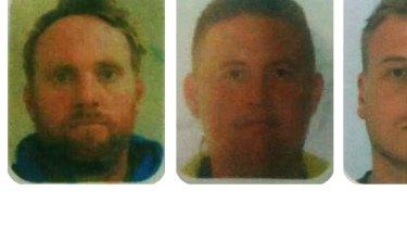 Mark Rossiter, Bradley Beecham and Michael Matthews.