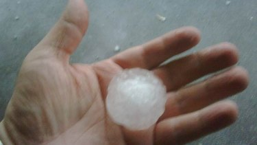 Hail the size of golf balls battered Perth in 2010.