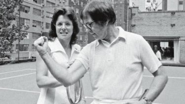 Billie Jean King and Bobby Riggs in 1973.