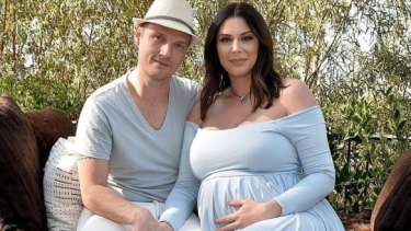 Backstreet Boys singer Nick Carter and his wife Lauren Kitt Carter in April 2016.