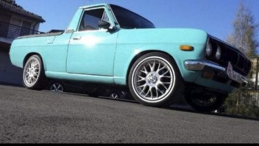 The blue Datsun that Philip loved to drive was more than 20 years old.