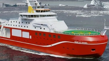 After consultation, the public wanted to name this ship Boaty McBoatface.