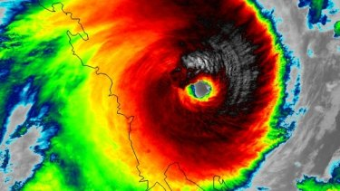 Angry eye: VIIRS infrared imagery from @NASANPP of Cyclone Marcia as it approaches the eastern coast of Australia.