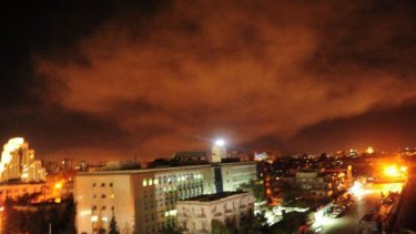 Damascus in the early hours of April 14.