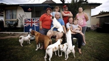 Peta Ashley and his extended familiy, one of the families featured in Struggle Street