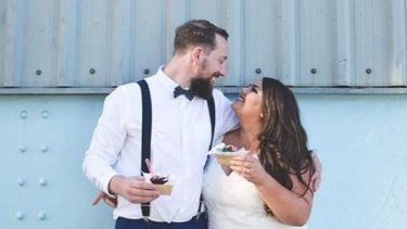 Callie Thorpe's wedding portraits and candid words have gone viral.