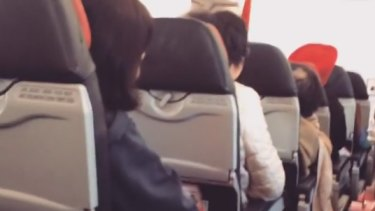 On board the AirAsia flight that had to return to Perth with a 'technical issue'.