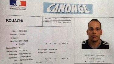 Suspect: Cherif Kouachi.