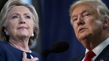 No election like it: Divisive presidential nominees Hillary Clinton and Donald Trump.