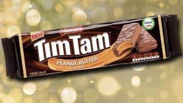 """No actual peanuts, fewer biscuits"": the recently released Tim Tam flavour."