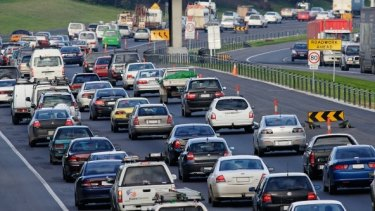 Traffic jammed after trucks crash on the Monash Freeway.