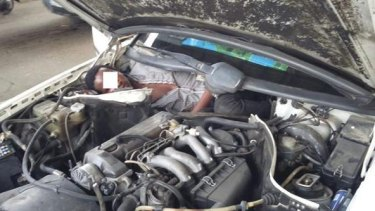 A migrant from Guinea was found hiding in a car engine in a bid to enter Spain from Morocco.