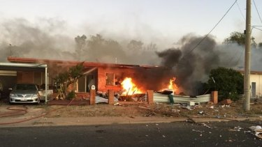 Police from Brisbane and Townsville flew to Mount Isa to investigate the caravan blast.