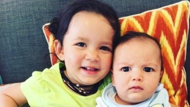 Zachary Bryant (right), who was killed in the Bourke Street attack, with his sister Zara.