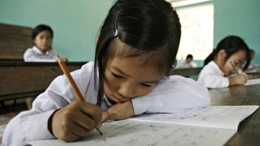 Concentrating: Vietnam's curriculum has a tight focus on literacy and numeracy.