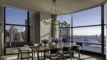 The view from an apartment at the 50 UN Plaza building in New York where New Zealand owns a pad.