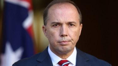 Minister for Immigration Peter Dutton is visiting the Middle East.