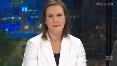 Kelly O'Dwyer, Liberal minister for small business and assistant treasurer, on <i>Q&A</i>.