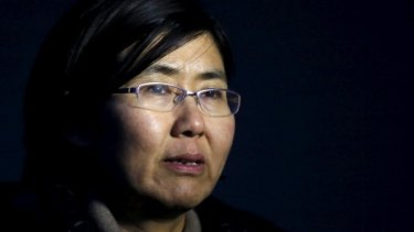 Prominent human rights lawyer Wang Yu, who has been detained by Chinese authorities since July 9.