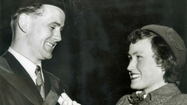 The late Laurie Kerr with his wife Vivienne.