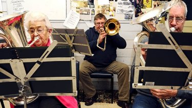 Breath contol: The Natimuk Brass Band in rehearsal.