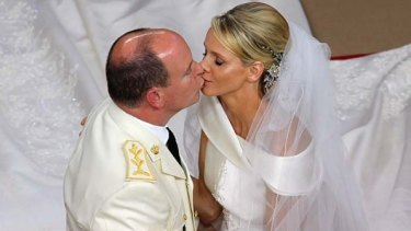 Prince Albert II and Princess Charlene of Monaco during their religious wedding. They reportedly slept at separate hotels on their honeymoon