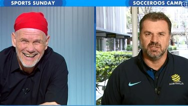 Peter FitzSimons and Ange Postecoglou on Sports Sunday.