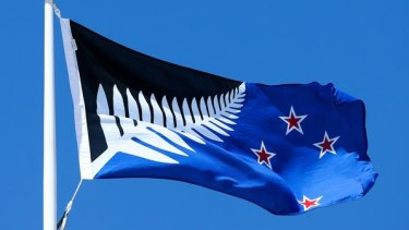 Unwanted: the black and blue silver fern design.