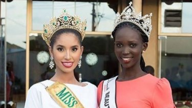 Former Miss Grand International Anea Garcia and Beauties of South Sudan winner Sarah Gabriel celebrated International Women's Day in South Sudan.