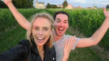 Sylvia Jeffreys and Peter Stefanovic became engaged after he proposed at a French vineyard.