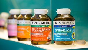 Blackmores shares were hit by news of the tighter import rules.