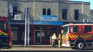Three children have survived a fire in a home above a restaurant in Waimate, New Zealand.