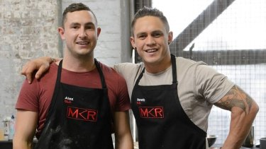"""Alex and Gareth and their """"cola ribs"""" (whatever they are) are now up for elimination. Tune in tomorrow night to watch them bang into each other."""