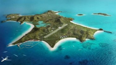 Artists impression of the Great Keppel Island resort development.