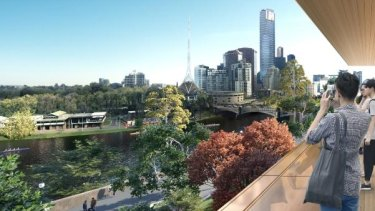 An artist's impression of the view from the new Apple store.