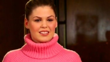 Disgraced wellness blogger Belle Gibson in a scene from her interview with Channel Nine's 60 Minutes program.