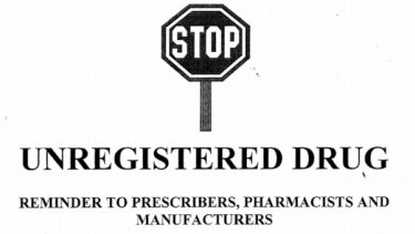 The beginning of a letter sent to military doctors by the Therapeutic Goods Administration.